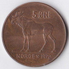 5 эре 1972 Норвегия - 5 ore 1972 Norway