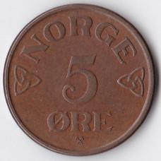 5 эре 1952 Норвегия - 5 ore 1952 Norway