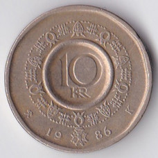 10 крон 1986 Норвегия - 10 kroner 1986 Norway