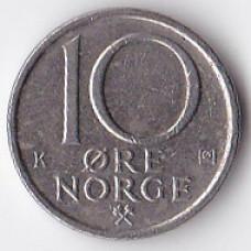 10 эре 1986 Норвегия - 10 ore 1986 Norway