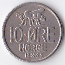 10 эре 1963 Норвегия - 10 ore 1963 Norway