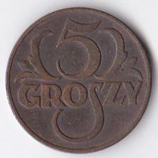 5 грошей 1937 Польша - 5 groszy 1937 Poland