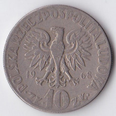 10 злотых 1968 Польша - 10 zlotych 1968 Poland