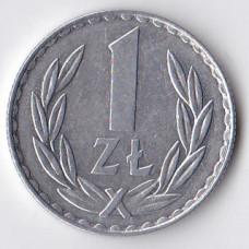 1 злотый 1977 Польша - 1 zloty 1977 Poland