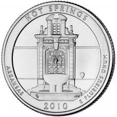 25 центов (квотер) 2010 США Хот-Спрингс, D - 25 cents (quarter) 2010 USA Hot Springs, D