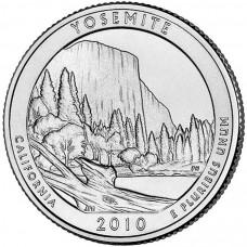 25 центов (квотер) 2010 США Йосемити, D - 25 cents (quarter) 2010 USA Yosemite, D