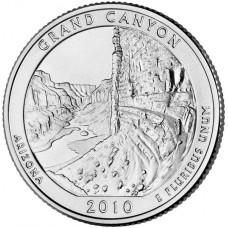 25 центов (квотер) 2010 США Гранд-Каньон, D - 25 cents (quarter) 2010 USA Grand Canyo, D