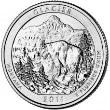 25 центов (квотер) 2011 США Глейшер, D - 25 cents (quarter) 2011 USA Glacier, D
