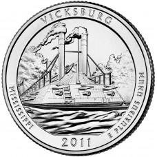 25 центов (квотер) 2011 США Виксбург, D - 25 cents (quarter) 2011 USA Vicksburg, D