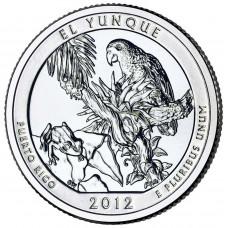 25 центов (квотер) 2012 США Эль-Юнке, D - 25 cents (quarter) 2012 USA El Yunque, D