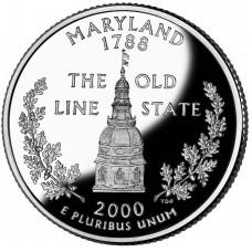 25 центов (квотер) 2000 США Мэриленд, P - 25 cents (quarter) 2000 USA Maryland, P