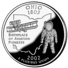 25 центов (квотер) 2002 США Огайо, D - 25 cents (quarter) 2002 USA Ohio, D