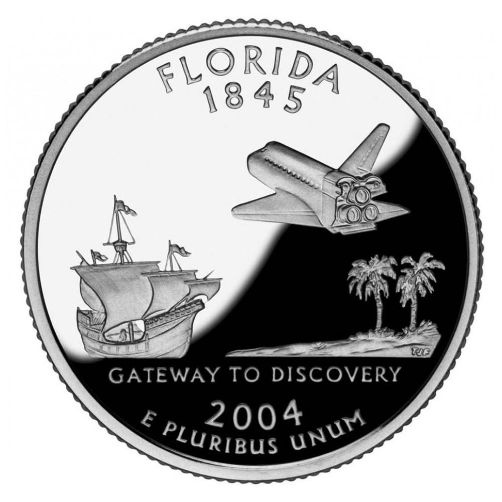 25 центов (квотер) 2004 США Флорида, P - 25 cents (quarter) 2004 USA Florida, P