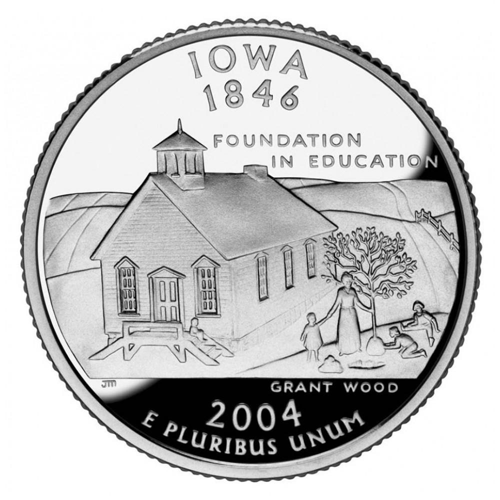 25 центов (квотер) 2004 США Айова, P - 25 cents (quarter) 2004 USA Iowa, P
