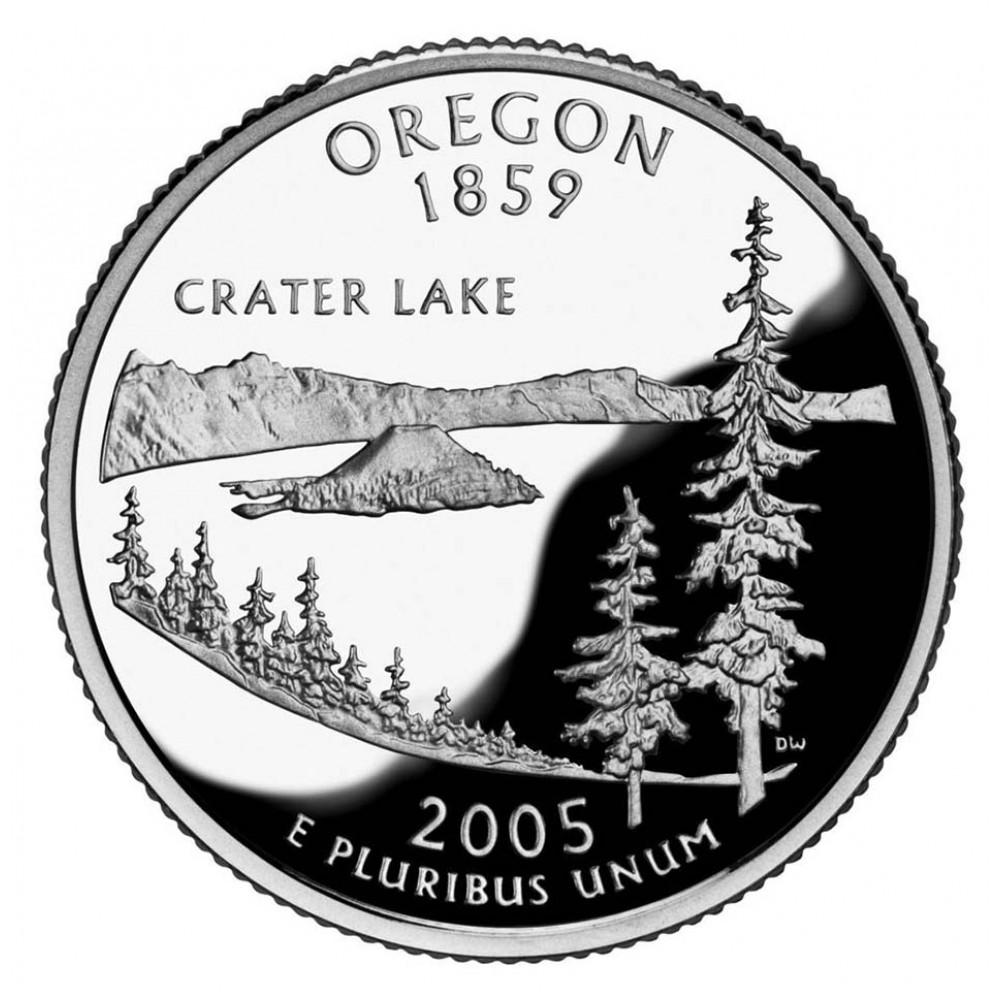 25 центов (квотер) 2005 США Орегон, P - 25 cents (quarter) 2005 USA Oregon, P