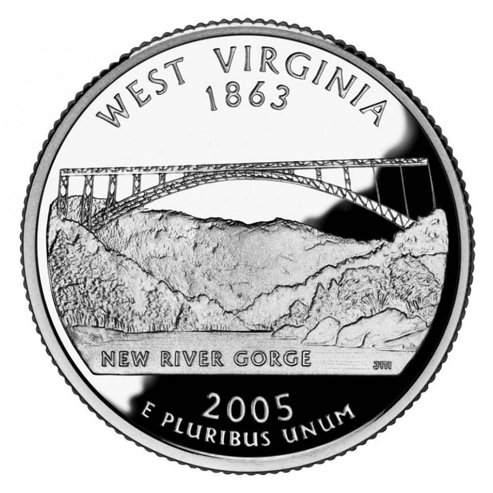 25 центов (квотер) 2005 США Западная Виргиния, P - 25 cents (quarter) 2005 USA West Virginia, P