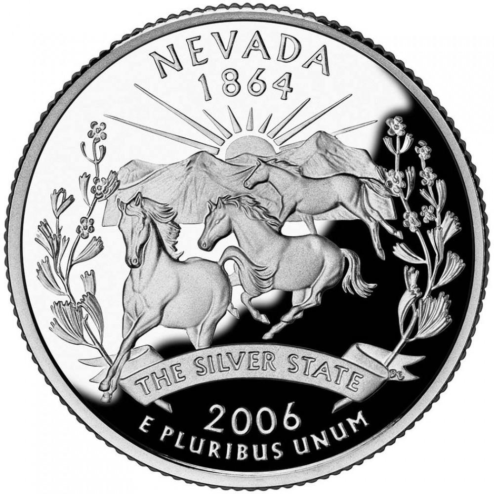 25 центов (квотер) 2006 США Невада, P - 25 cents (quarter) 2006 USA Nevada, P