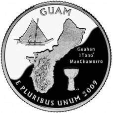 25 центов (квотер) 2009 США Гуам, P - 25 cents (quarter) 2009 USA Guam, P