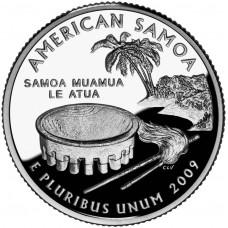 25 центов (квотер) 2009 США Американское Самоа, P - 25 cents (quarter) 2009 USA American Samoa, P