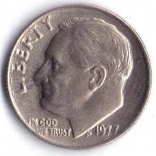 1 дайм (10 центов) 1977 США - 1 dime (10 cents) 1977 USA