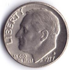 1 дайм (10 центов) 1977 США - 1 dime (10 cents) 1977 USA, D