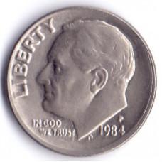 1 дайм (10 центов) 1984 США - 1 dime (10 cents) 1984 USA, P