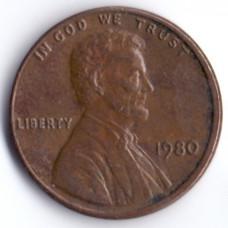 1 цент 1980 США - 1 cent 1980 USA