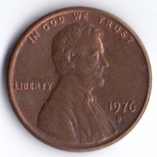 1 цент 1976 США - 1 cent 1976 USA, D