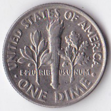 1 дайм (10 центов) 1989 США - 1 dime (10 cents) 1989 USA, P