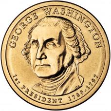 1 доллар 2007 США Джордж Вашингтон, D - 1 dollar 2007 USA George Washington, D
