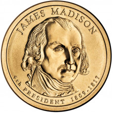 1 доллар 2007 США Джеймс Мэдисон, P - 1 dollar 2007 USA James Madison, P
