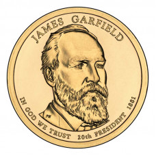 1 доллар 2011 США Джеймс Абрам Гарфилд, D - 1 dollar 2011 USA James Garfield, D