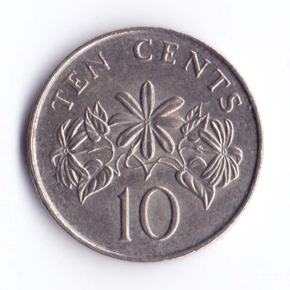 10 центов 1986 Сингапур