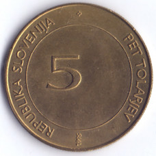 5 толаров 1995 Словения - 5 tolarjev 1995 Slovenia