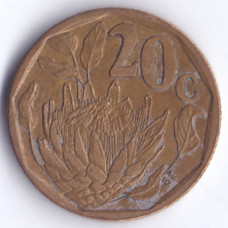 20 центов 1995 ЮАР - 20 cents 1995 South Africa