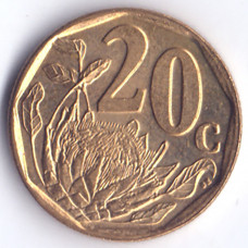 20 центов 2005 ЮАР - 20 cents 2005 South Africa