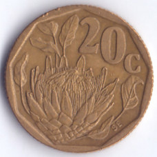 20 центов 1994 ЮАР - 20 cents 1994 South Africa