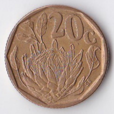 20 центов 1992 ЮАР - 20 cents 1992 South Africa