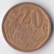 20 центов 2002 ЮАР - 20 cents 2002 South Africa