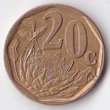20 центов 1997 ЮАР - 20 cents 1997 South Africa