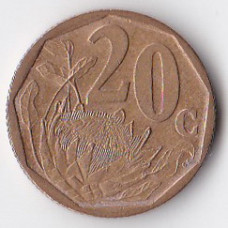 20 центов 1999 ЮАР - 20 cents 1999 South Africa