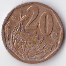 20 центов 2004 ЮАР - 20 cents 2004 South Africa