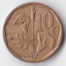 10 центов 1995 ЮАР - 10 cents 1995 South Africa
