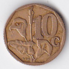 10 центов 1996 ЮАР - 10 cents 1996 South Africa