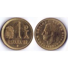 1 Pta 1980 Spain 82  - 1 песета 1980 Испания 82