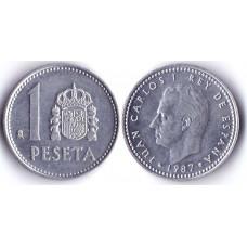 1 Peseta 1987 Spain - 1 песета 1987 Испания