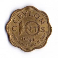 10 центов 1944 Цейлон - 10 cents 1944 Ceylon