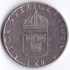 1 крона 1979 Швеция - 1 crown 1979 Sweden, из оборота