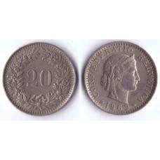20 rappen 1969 Switzerland - 20 раппен 1969 Швейцария