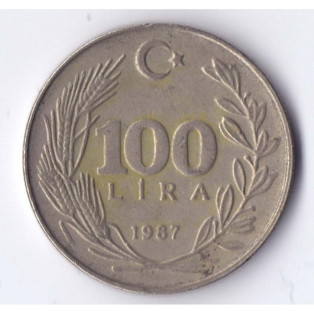 100 лир 1987 Турция - 100 lire 1987 Turkey, из оборота
